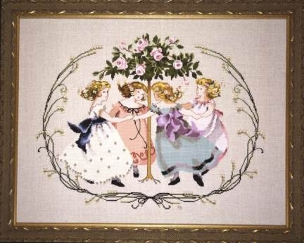 Ring Around the Rose Tree Cross Stitch Pattern from Mirabilia Designs MD 76