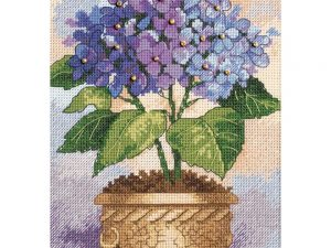 Hydrangeas  Gold Petite Counted Cross Stitch Kit by Dimensions 6959