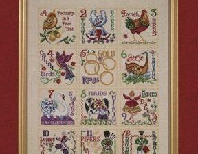 12 Days of Christmas Cross Stitch Pattern by Jim Shore JSP005