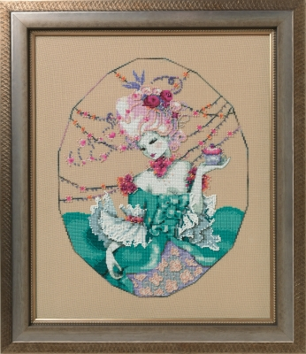 The Baker's Wife Cross Stitch Pattern by Mirabilia MD 166