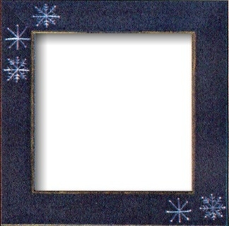 """Frame 6"""" x 6"""" Matte Blue with Snowflakes by Mill Hill GBFRFA15"""
