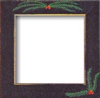 """Frame 6"""" x 6"""" Matte Black with Pine Boughs by Mill Hill GBFRFA16"""
