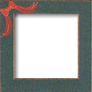"""Frame 6"""" x 6"""" Matte Green with Red Bow by Mill Hill GBFRFA8"""