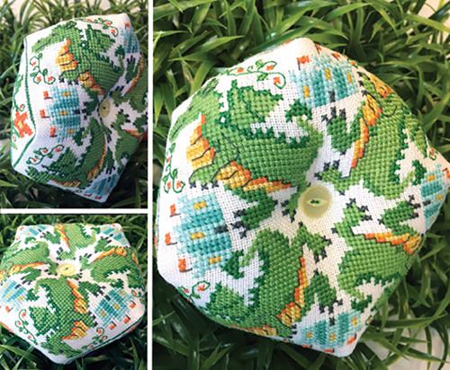 Dragon Biscornu Cross Stitch Pattern from Tiny Modernist