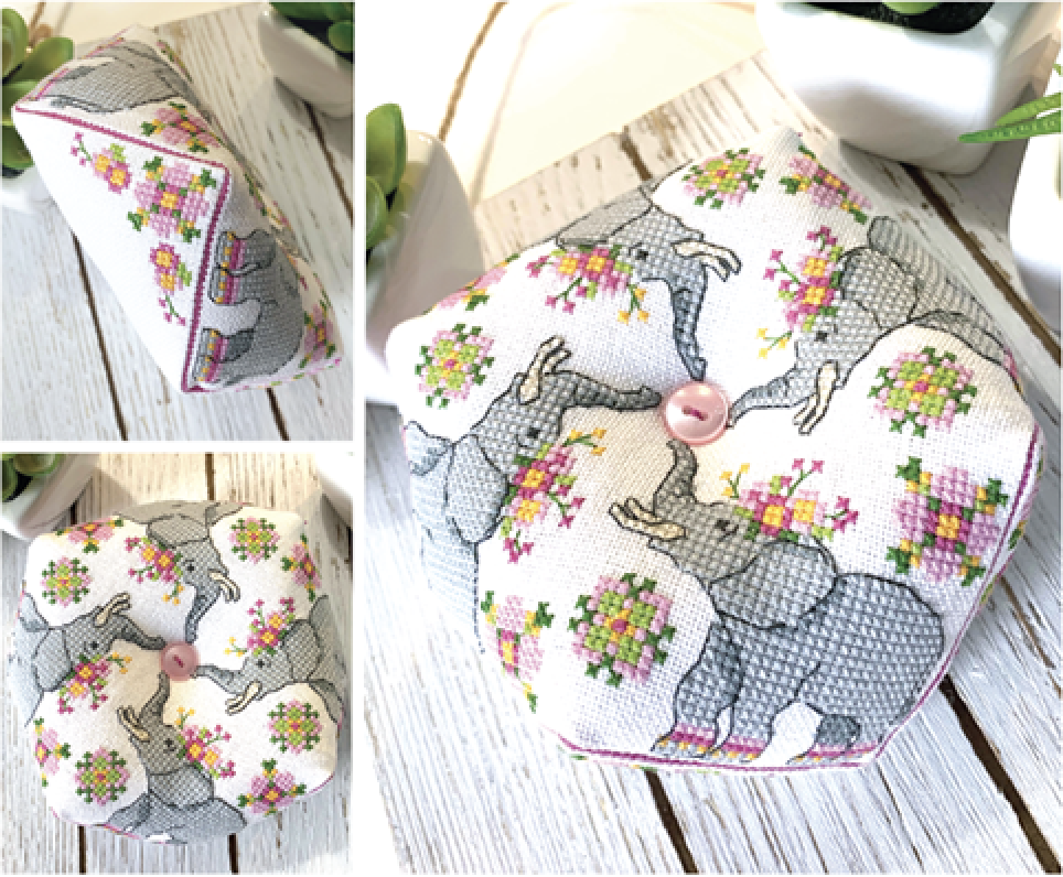 Elephant Biscornu Pattern by Tiny Modernist