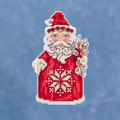 """Jim Shore """"Nordic Santa""""  Mill Hill Kit JS20-1911"""